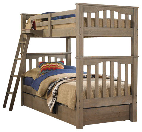 Crosspointe Twin Over Twin Bunk Bed, Twin Size Trundle.