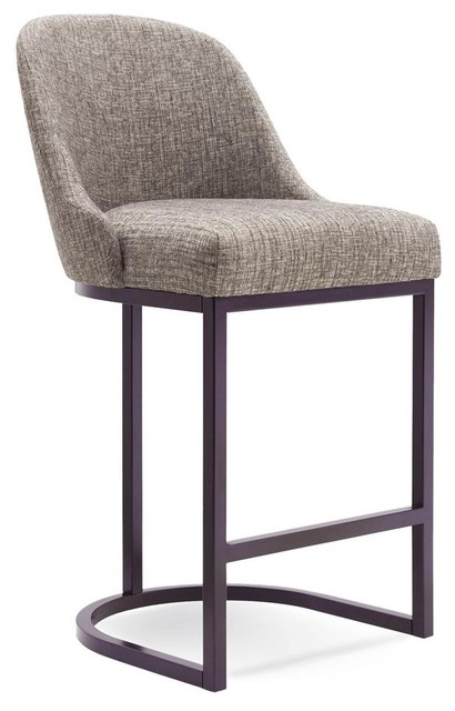 39 in. Barrel back Counter Stool - Set of 2