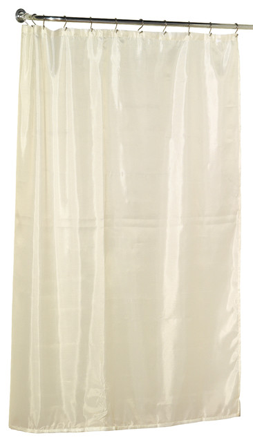 Extra Long (78u0027u0027) Polyester Fabric Shower Curtain Liner In Ivory Shower