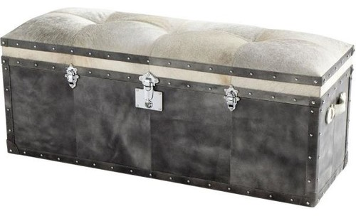 Cyan Lighting Casselton, 20.25 Ottoman, Grey Finish