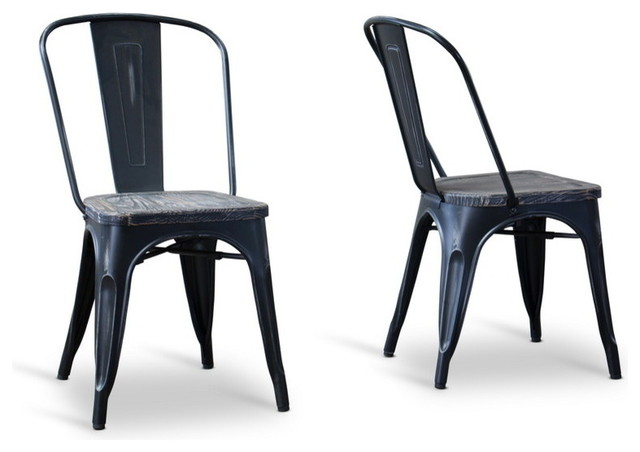 Baxton Studio French Industrial Bistro Chairs Antique