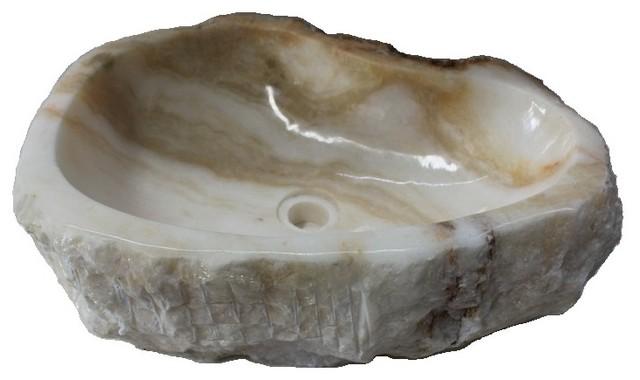 Eden Bath S029jo-P Natural Stone Sink, Jurassic Onyx.