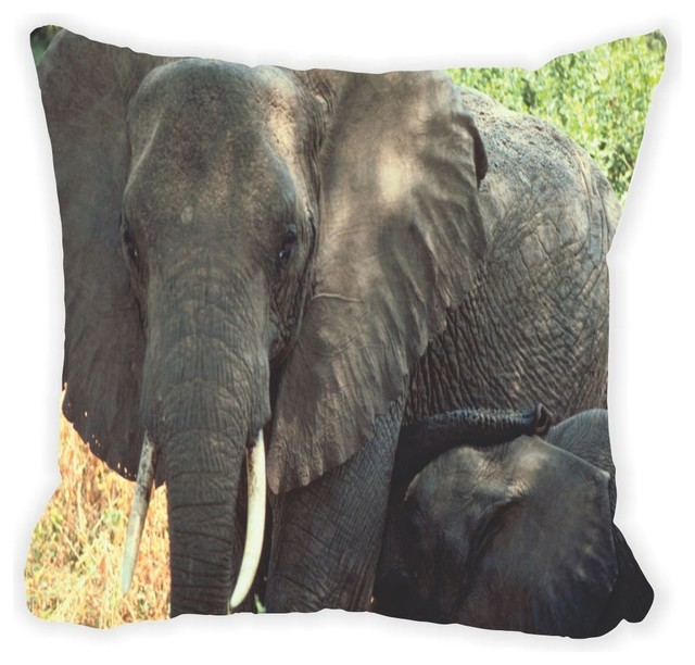 African elephant close up double sided 16 decor pillow African elephant home decor