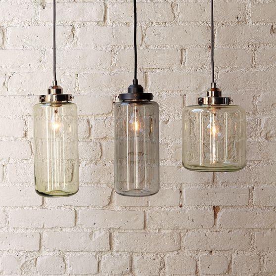 Glass Jar Pendants