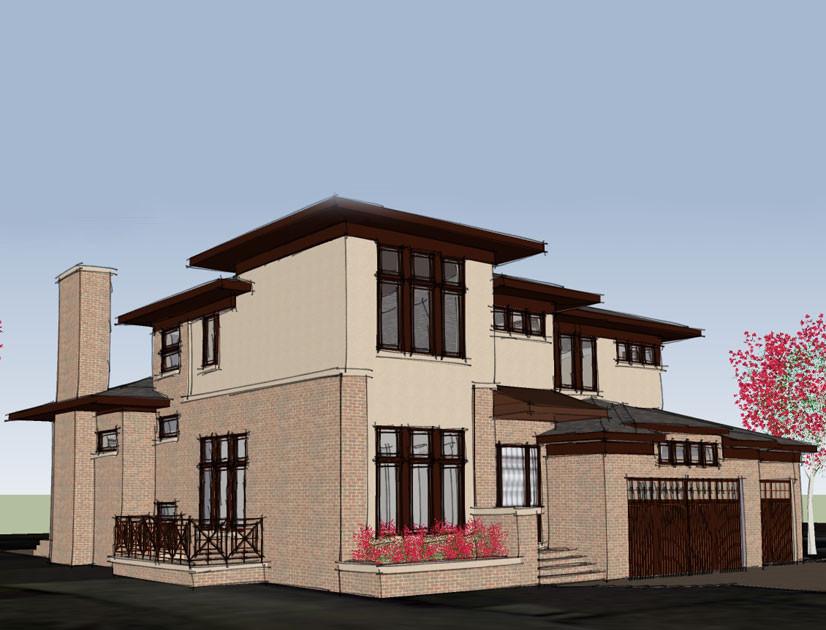 Prairie style residence