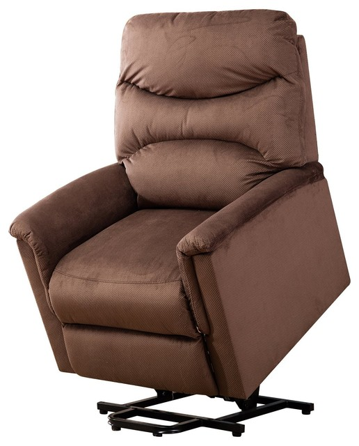 BONZY Recliner Power Lift Chair With Remote Control for Gentle Motor, Chocolate by BONZY