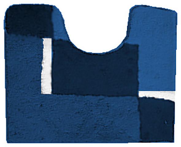 shop houzz vita futura navy blue machine washable pedestal bathroom rug dakota bath mats. Black Bedroom Furniture Sets. Home Design Ideas