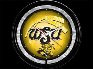 Wichita State University NCAA 12-inch Plasma Neon Clock