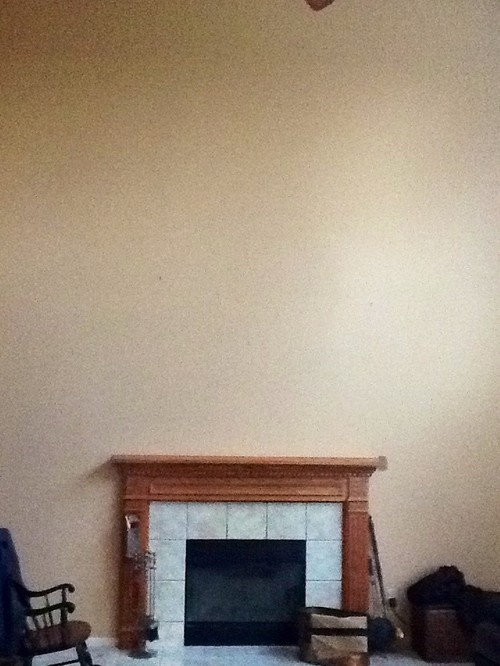 Need Ideas For Large Space Over Fireplace