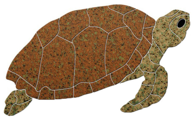 Turtle Sideview Ceramic Swimming Pool Mosaic Beach Style