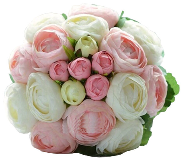 White And Pink Peony Bridal Wedding Bouquet Flower Bouquets ...