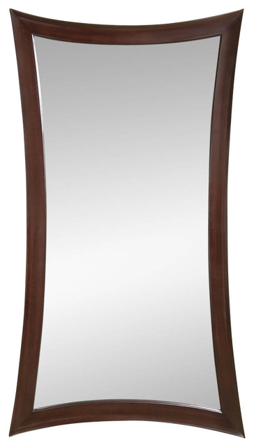 Bassett mirror co decorative leaning floor mirror in for Leaning wall mirror