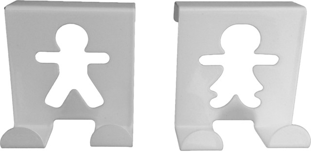 Brushed Stainless Steel Over Closet Door Hooks Fellow Couple, Set ...