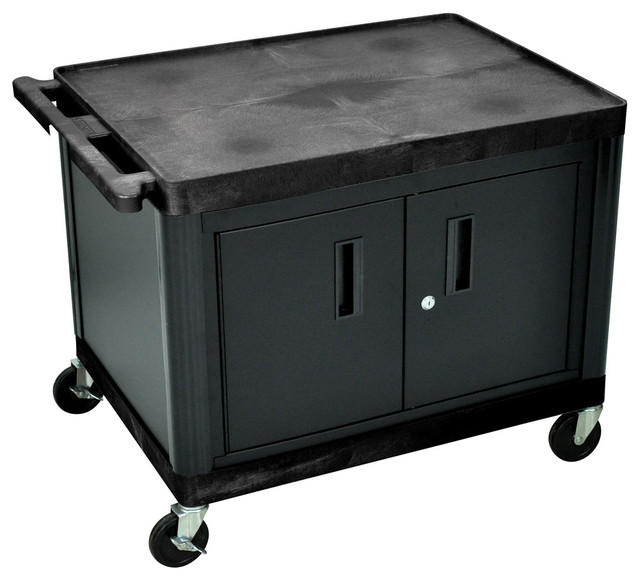 """AV Cart With Locking Cabinet 27"""" - Industrial - Utility Carts - by VirVentures"""