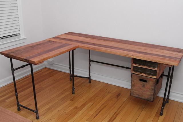 Reclaimed Wood L Desk