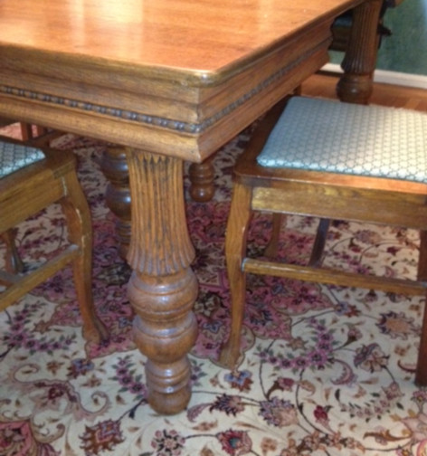 - New Chairs To Compliment A 1900 Antique Oak Dining Table