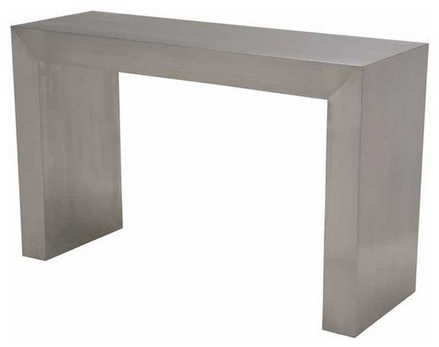 Long Stainless Steel Elegant Console Table With Brushed