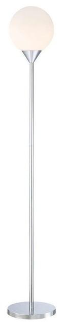 George Kovacs P1831-3-077 Simple Floor Lamp, Chrome.