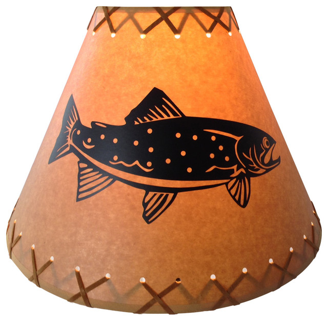 14 Quot Diameter Trout Shade Rustic Lamp Shades By Reel