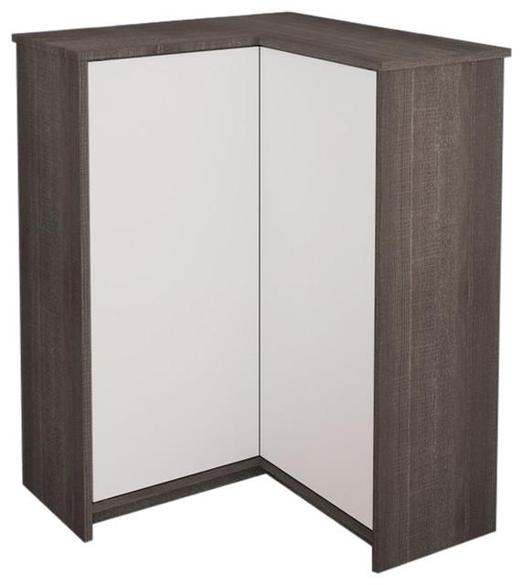 Bestar Krom Corner Storage Cabinet in White