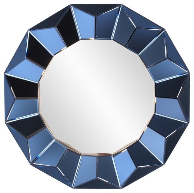 Contemporary Wall Mirror kaleidoscope mirror, cobalt blue - contemporary - wall mirrors