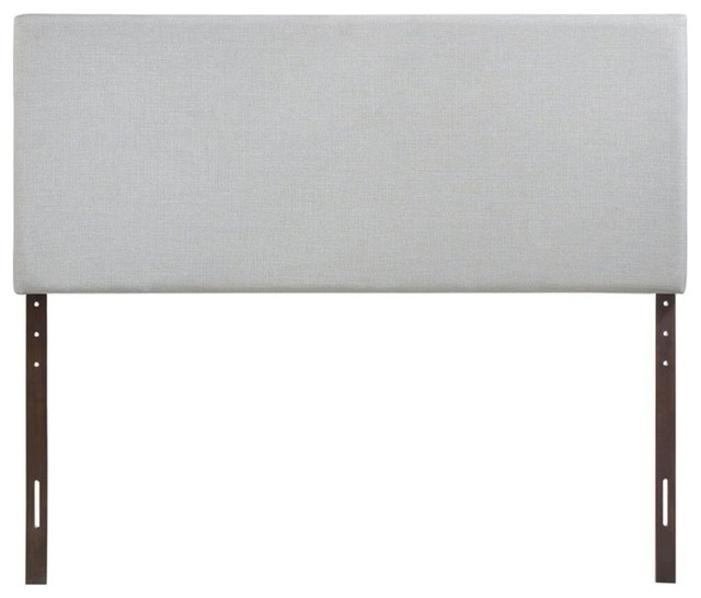 Modway Region Upholstered Queen Panel Headboard, Sky Gray.
