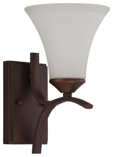 Modern Bronze Wall Sconces : Jeremiah Arabella Old Bronze Contemporary Wall Sconce w/ 1 Light 100W - Contemporary - Wall ...