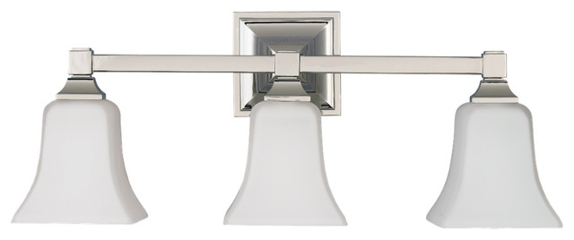 Feiss Canterbury 3 Light Vanity Fixture Oil Rubbed Bronze: Murray Feiss VS12403-ORB American Foursquare 3 Bulb Oil