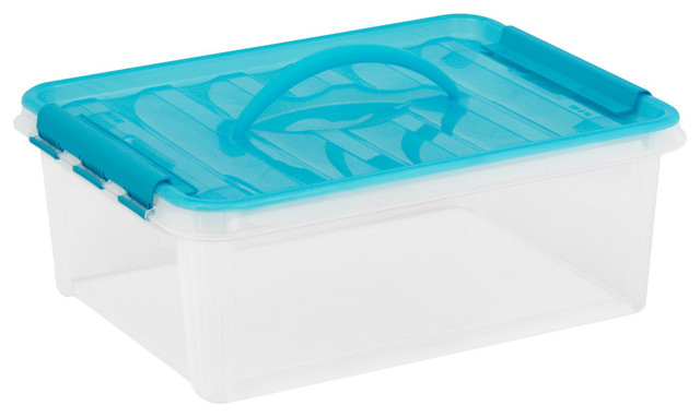 "Snapware 15.5""x11.5""x5.5"" Clear Plastic Smart Store Home Storage Container."
