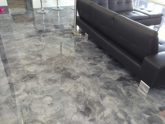 Leggari 2013 Parade Of Homes Metallic Epoxy Flooring Contemporary