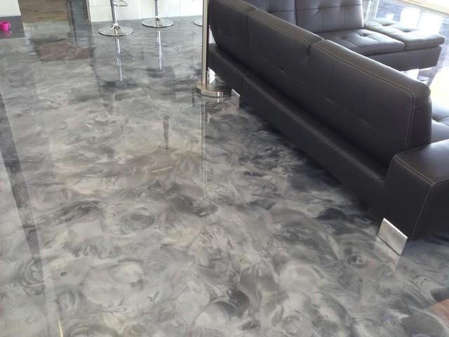 Leggari 2013 Parade Of Homes Metallic Epoxy Flooring