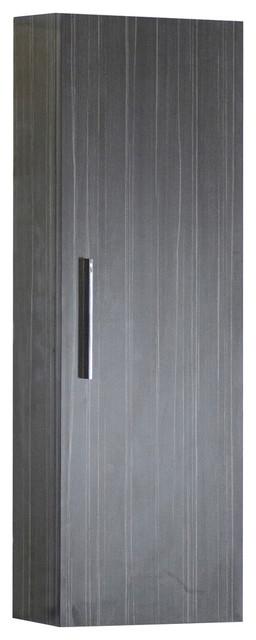 """Modern Plywood-Melamine Medicine Cabinet, Dawn Gray, 12""""x36""""."""