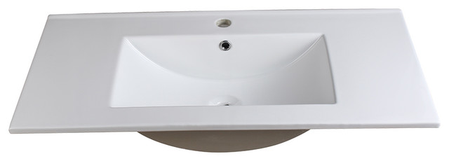 "Fresca Torino 36"" White Integrated Sink/countertop."