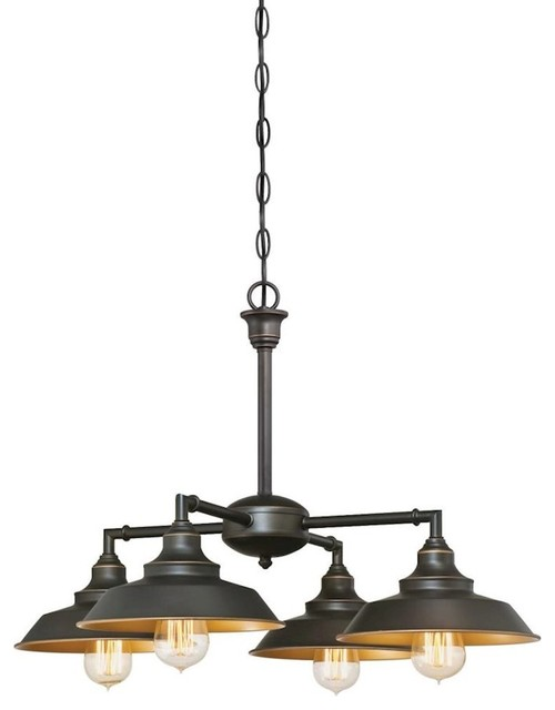 Westinghouse Iron Hill 4-Lt Chandelier/Semi-Flush, Oil Rubbed Bronze