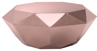 Gem Coffee Table, Rose Gold