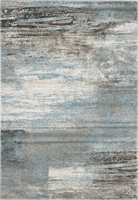 Safavieh Tahoe Tah479d Light Blue Grey 4 X 6 Rug Contemporary Area