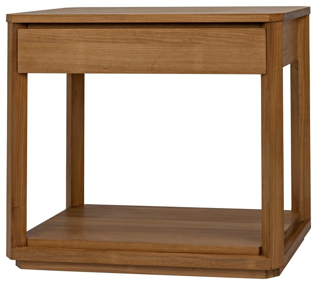 32 Wset Of 2 Side Table Single Drawer