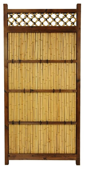 Criss Cross Bamboo Garden Fence Contemporary Home Fencing And