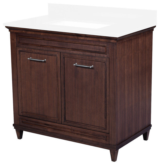 Brilliant Bath Vanity CarraraChocolate 48quot  Transitional  Bathroom Vanities