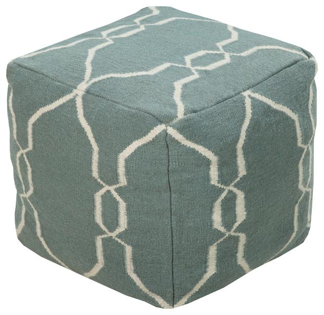 Surya Poufs Cube Pouf.