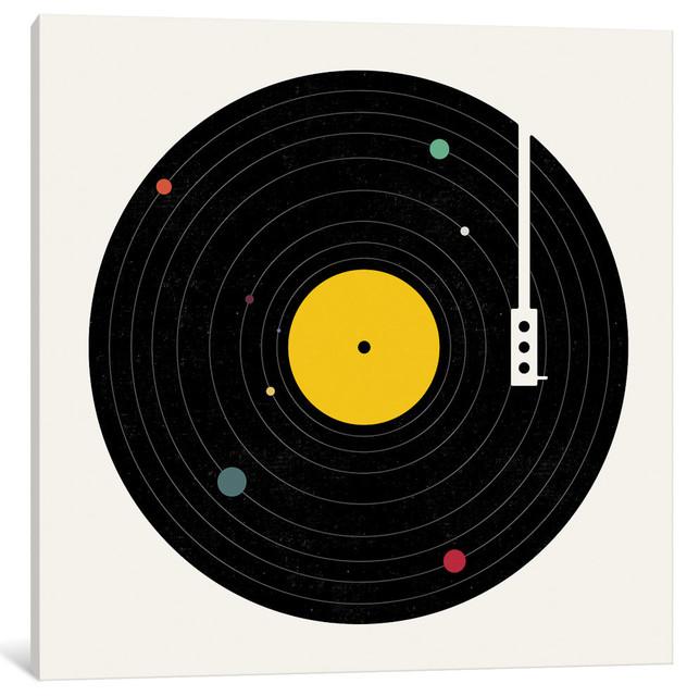"""music Everywhere"" By Florent Bodart, Canvas Print, 26""x26"". -1"