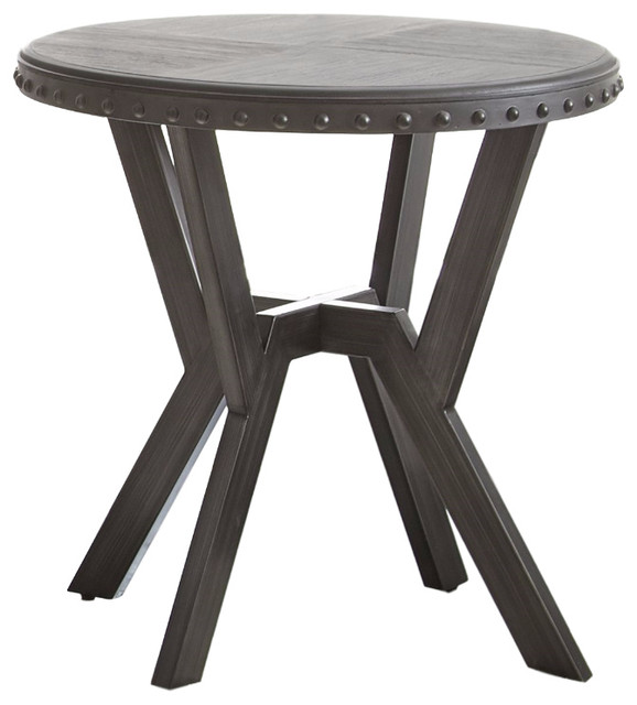 Amazing Alamo Round End Table Traditional Side Tables And End Tables