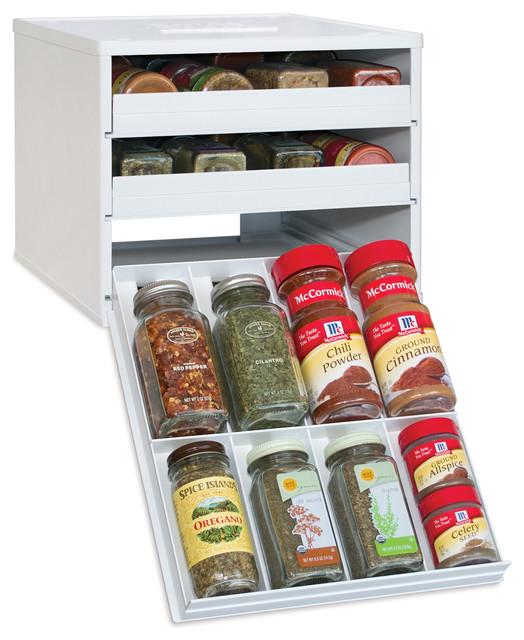Spicestack Classic 24-Bottle Cabinet Spice Rack.