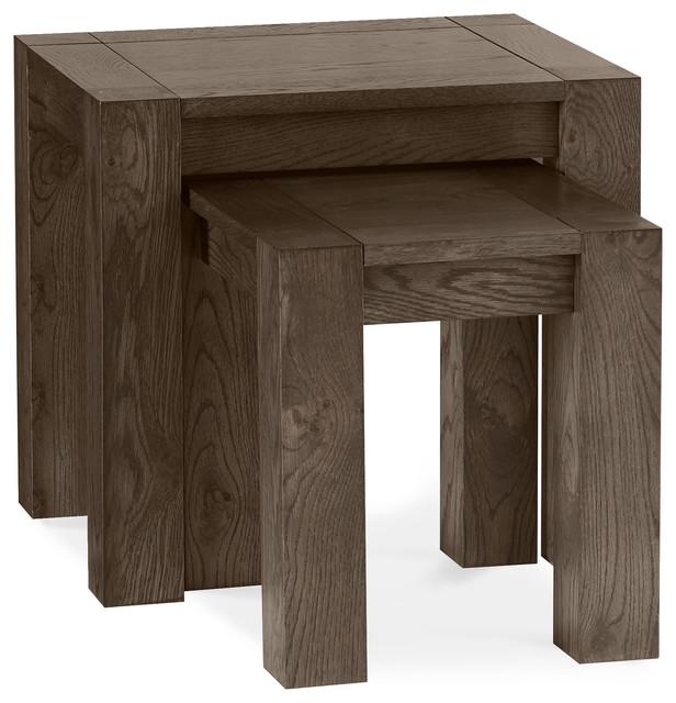 Tyler Dark Oak Nesting Tables, 2 Piece Set