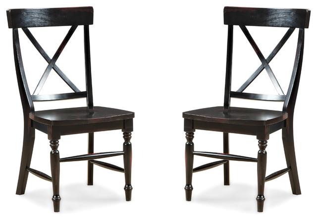 Intercon Roanoke X-Back Side Chair, Set Of 2.
