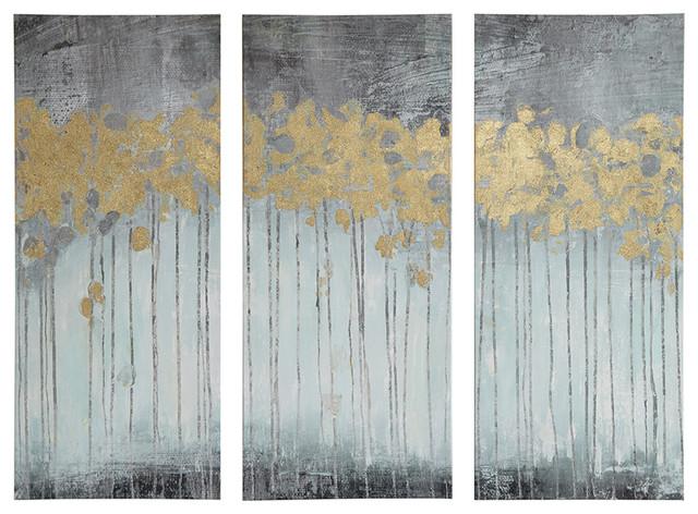 3-Piece Gray Forest Gel Coat Canvas Set.
