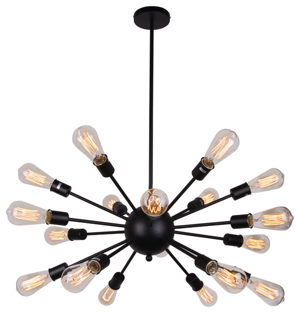 Lighting rising vintage style metal 18 light sputnik chandelier vintage style metal 18 light sputnik chandelier black midcentury chandeliers mozeypictures Image collections