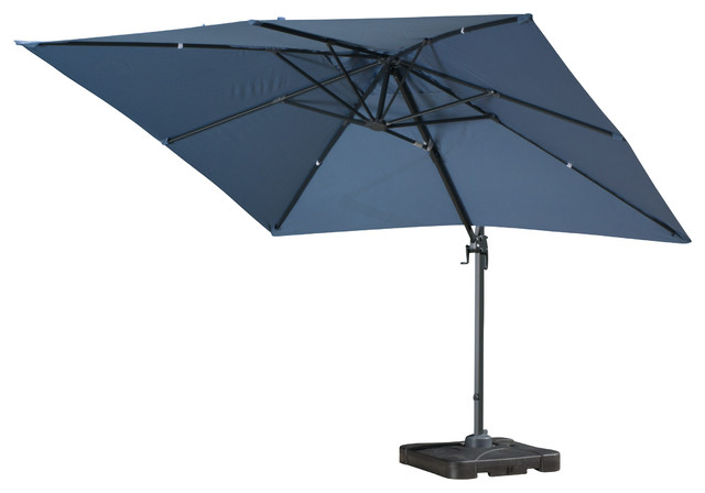 Denise Austin Home Sardinia Outdoor 9&x27;8-Foot Canopy Umbrella With Stand.
