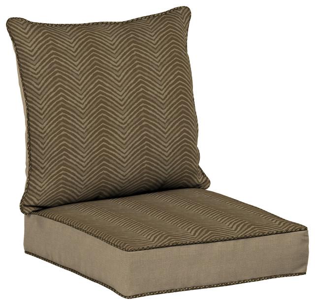 Zebra Snap Dry, Deep Seat Cushion Set