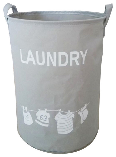 Pvc Support Home Laundry Baskets Clothes Hamper Storage Toy Organizer, Gray.